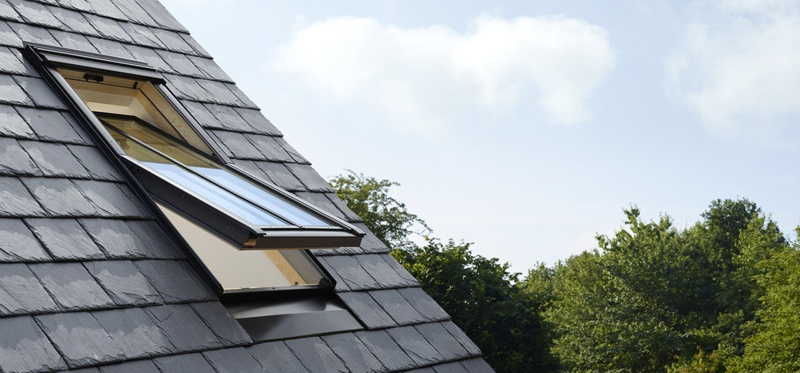 VELUX conservation roof window on slate roof